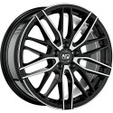 Llanta MSW 72 gloss black polished