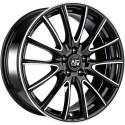 Llanta MSW 86 gloss black polished