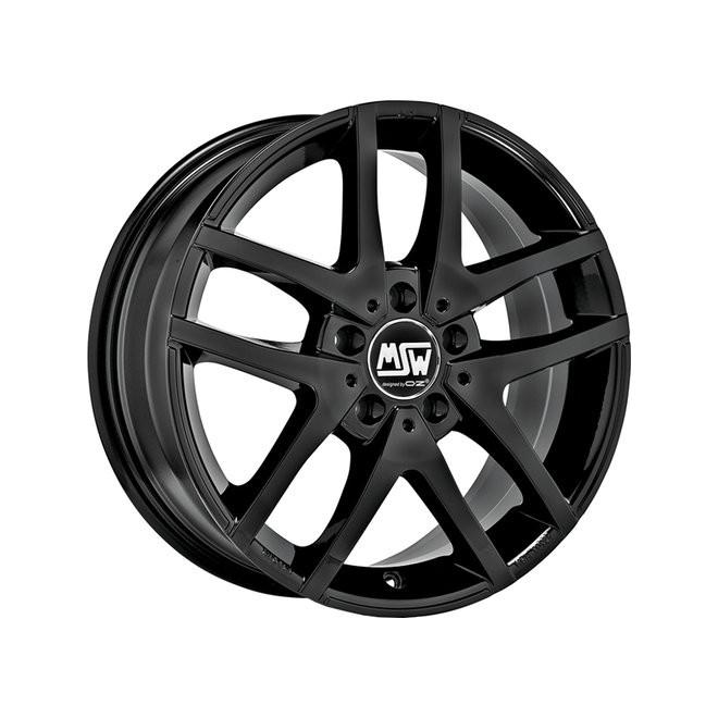 Llanta MSW 28 matt black polished