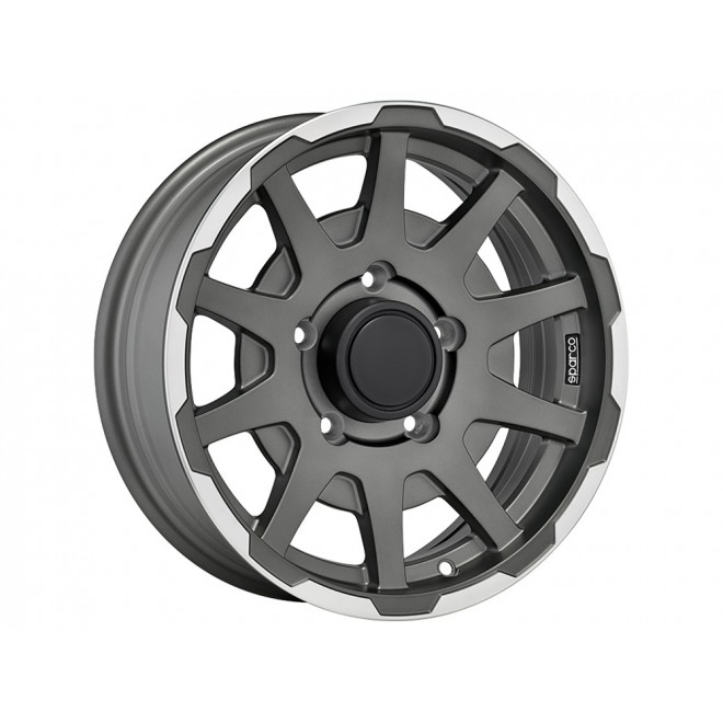 Llanta Sparco dakar matt dark grey lip polished