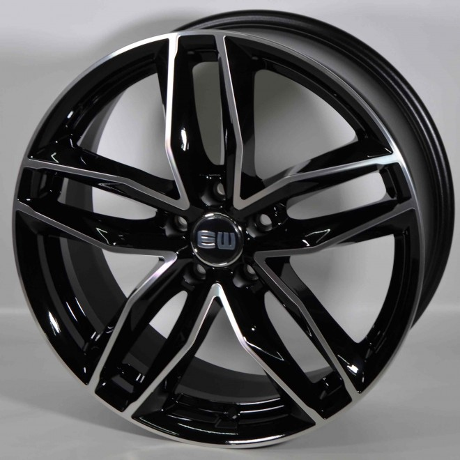 Llanta Elit wheels Must Black polished