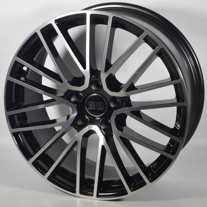 Llanta Elit wheels Titanium Black polished