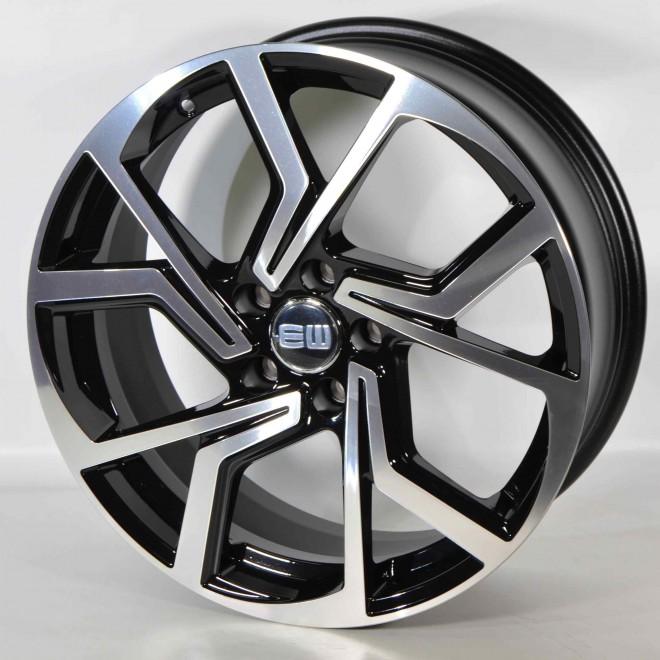 Llanta Elit wheels Cyclone Black polished