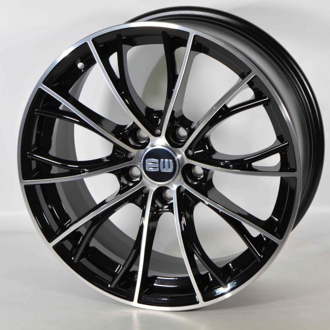Llanta Elit wheels Light Black polished