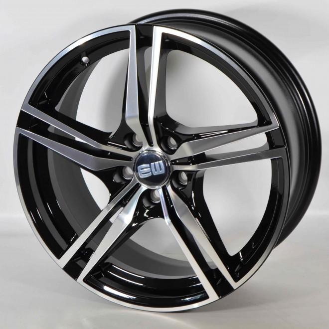 Llanta Elit wheels Racer Black polished