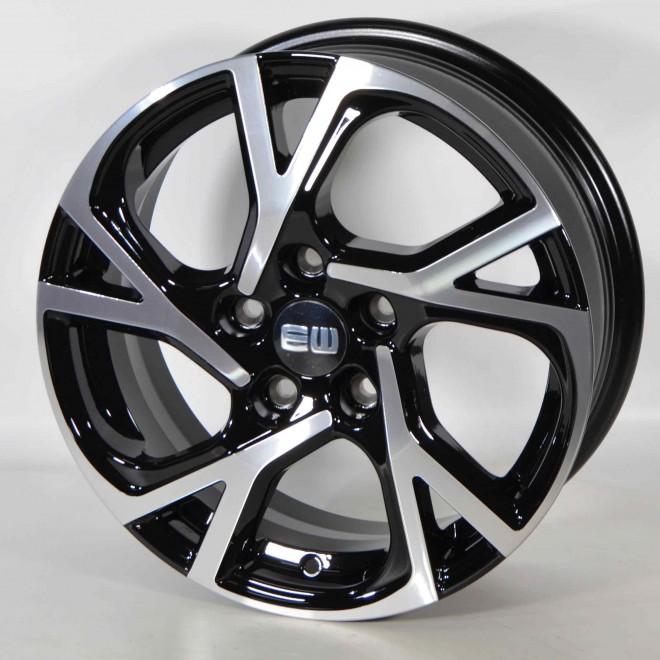 Llanta Elit wheels Agile black polished