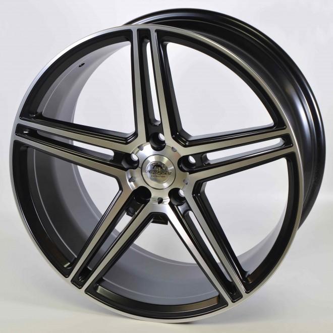 Llantas Forzza wheels Bosan Black polished