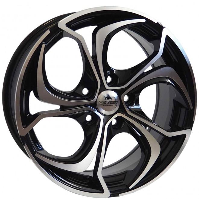 Llantas Forzza wheels Aktia Black polished