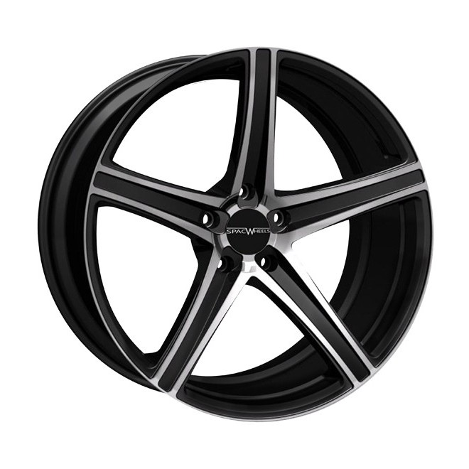 Llanta SpacWheels Pacific Negro brillo - diamantado