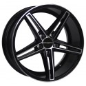 Llanta SpacWheels Sidney Negro brillo - diamantado